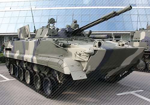 round comprising antitank guided missile for BMP-3
