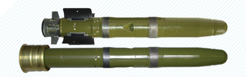 FALARICK 105 round comprising antitank guided missile