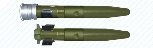 """KONUS"" round comprising antitank guided missile"
